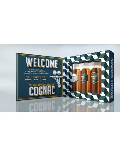 Cognac Monnet - Coffret miniatures
