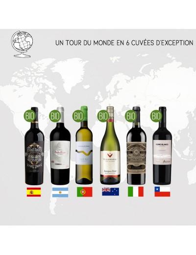 Coffret Tour du Monde en 6 Vins Bios