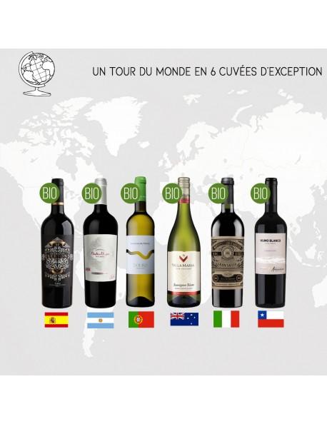 Cofftret Destination Le Monde - 6 Vins
